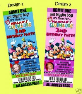 MICKEY MOUSE CLUBHOUSE and MINNIE Birthday Invitations