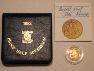 ROYAL MINT ST GEORGE SOLID 22K GOLD PROOF HALF SOVEREIGN COIN BOX COA