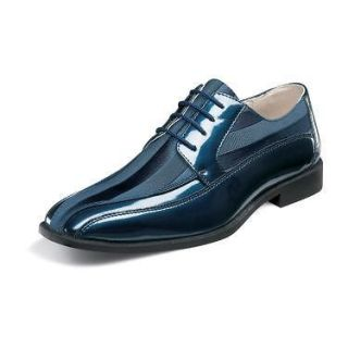 Stacy Adams Royalty Mens Dress Shoes 24669 Navy Leather All Sizes