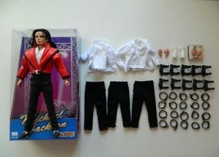 Michael Jackson Street Life Doll & Costume Lot Black or White Thriller