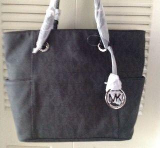 MICHAEL Michael Kors Jet Set E/W Signature Tote Bag NWT (Black)