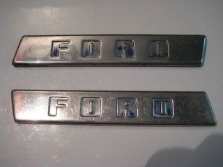 1948 1949 1950 Ford Pickup Truck Hood Side Ford Emblems Stainless
