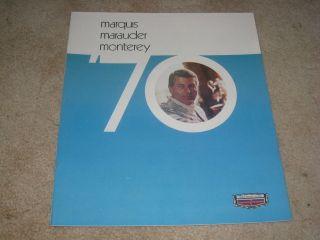 1970 Mercury Marquis Marauder X 100 Monterey DELUXE sales brochure
