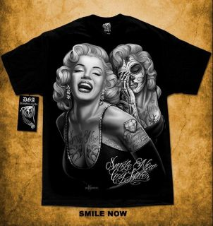 Marilyn Monroe Smile Now Cry Later David Gonzales DGA Cali Life M 4XL