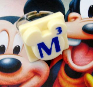 SCRABBLE TILE RING BOX DISNEY MICKEY MOUSE CHRISTMAS JEWELLERY GIFT