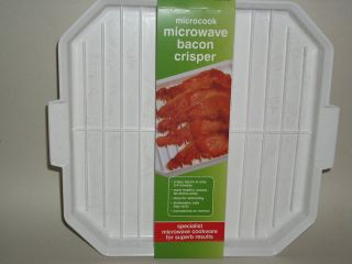 New Microwise Microwave Cooker Crispy Bacon Crisper
