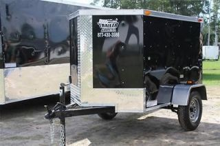 NEW 2013 4x6 4 x 6 V Nosed Enclosed Cargo Motorcycle Bike Trailer