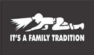 Coal Miner ITS A FAMILY TRADITION Mining Decal 3x8 COAL MINE Sticker