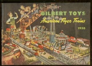 1950 American Flyer Trains model train catalog D1604