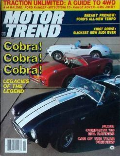 JAN 1983,COBRA,4X4 FORD RANGER,MITSUBISHI,JANUARY HOT ROD MAGAZINE