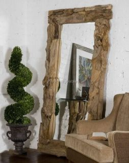 Extra Large DRIFTWOOD FULL LENGTH Wall Mirror Floor Leaner Beach 79