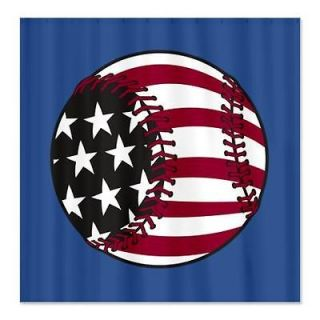 Baseball Sports Shower Curtain by CafePress 645622674