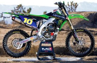 Kawasaki Team Green Monster graphics kit KX65/KLX110