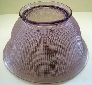 ANTIQUE VINTAGE PURPLE GLASS LAMP SHADE 3 1/2