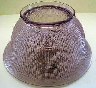 ANTIQUE VINTAGE PURPLE GLASS LAMP SHADE 3 1/2