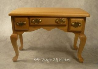 Miniature Maple Buffet Table Desk Vanity French Provincial Furniture