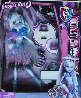 Monster High Doll Abbey Ghouls Rule New In Box Costume