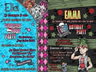 Monster High invitations + Party Supplies