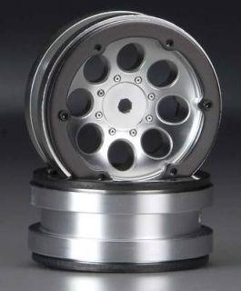 NEW Axial 8 Hole 1.9 Beadlock Wheel Satin Chrome (2) AX8088 NIB
