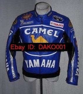 Motorcycle Motor Racing Yamaha Leather Jacket M XXL NEW Camel Topup