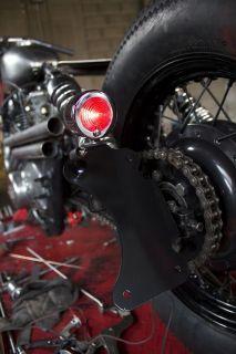 Vertical License Plate Bracket Tail Light Chopper Bobber Harley xs650
