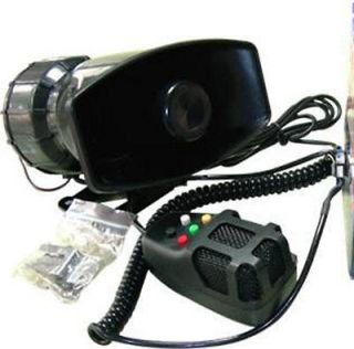 12V 50W Loud Horn for Car Van Truck Motorcycle with 5 Sounds PA System