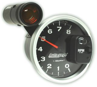 Auto Meter Tachometer Gauge 5 Monster Tach Rev Counter Black 8,000