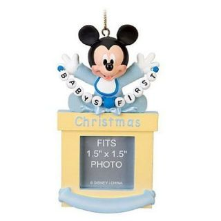 New Disney World Mickey Mouse Baby Babys First Christmas Ornament