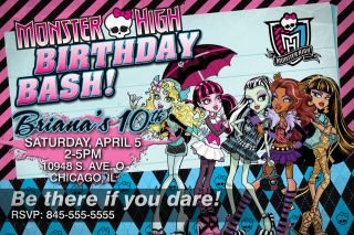 MONSTER HIGH GIRLS BIRTHDAY INVITATIONS INVITES PARTY FAVORS