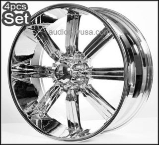30 wheels Rims for Chevy,Ford 8Lug,H2 Hummer  Chrome w/Huge Size Lip