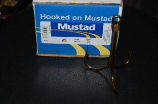 Mustad 3551 Size 14/0 Bronze BIG Treble Hooks   Snagging Bridge