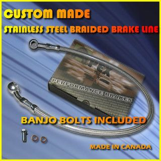 BOBBER MOTORCYCLE STAINLESS STEEL 2 BRAKE LINES KIT