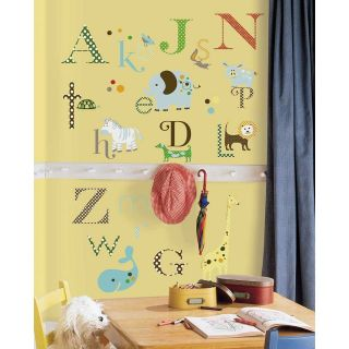 107 New Baby Nursery ANIMAL ALPHABET WALL DECALS Letters Animals