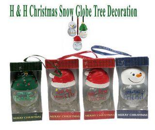 History & Heraldry Snow Globe Tree Decoration Christmas Personalised