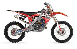 2012 FX Chad Reed Two Two Motorsports Full Graphics Trim Kit   HONDA