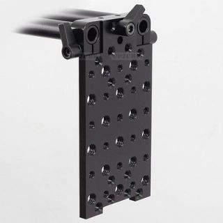 Vertical Mount Cheese Plate Base Rod Clamp fr 15mm Rod Support DSLR