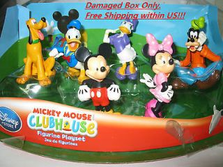 Disney Mickey Mouse Clubhouse Figurine Play Set 6 pcs Non Sealed