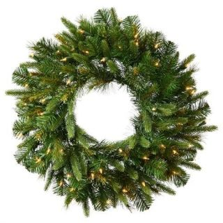 Mixed Pine Cashmere 30 Battery Operated Wreath With Warm Clear LED