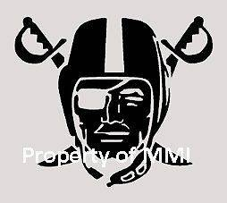 Oakland RAIDERS Style #12 Vinyl Decal Window Wall Laptop Car Helmet