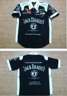 2012 Black JACK DANIELS nascar pit crew racing shirt/chemise sizeM