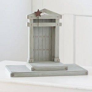 WILLOW TREE Christmas Figurine (26106)   Nativity Backdrop Creche