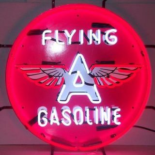 Neon Sign Flying A oil Gas Gasoline Man cave garage Mechanic gift wall