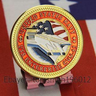 Navy / USS Enterprise CVN 65 / Military Challenge Coin 629