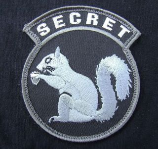SQUIRREL MILITARY MORALE MILSPEC SPECIAL BLACK OPS SWAT VELCRO PATCH