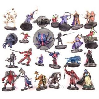 USED Lot 25X Dungeons & Dragons Miniatures d&d Figure NO CARD WM31
