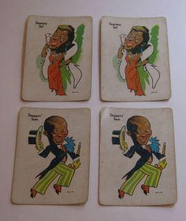 Black Americana Old Maid Cards Game with Sassiety Sal & Steppin Sam