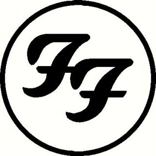 foo fighters circle vinyl decal window or bumper sticker rock roll