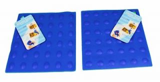 Lot of 2 Blue Silicone Trivets Hot Pad Jar Openers