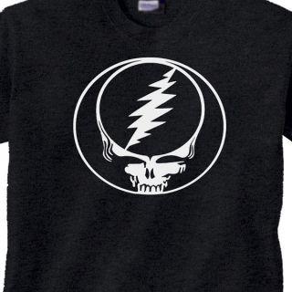 YOUR FACE GRATEFUL DEAD HEAD Vintage STyle T Shirt RETRO BLACK TEE