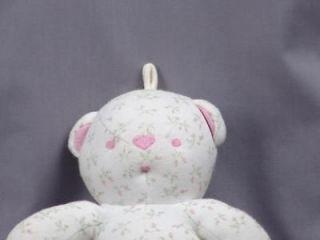 Plush Amy Coe Flower Pink Roses Stuffed Teddy Bear
